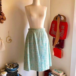 Nice Kate Spade Mint Green Tweed Pencil Skirt Sz 4